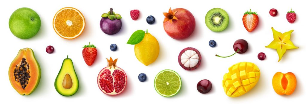 Assortment of different fruits and berries